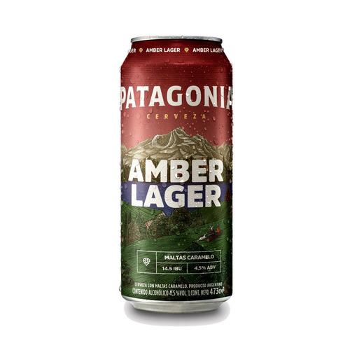 Imagen 1 de 5 de Cerveza Patagonia Amber Lager Roja Lata 473ml