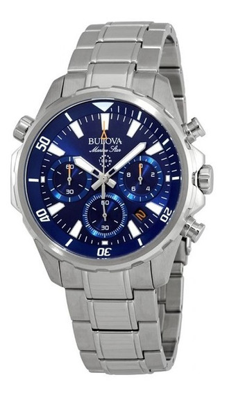Relógio Bulova Masculino Marine Star Chronograph Azul Origin