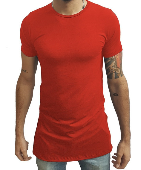 Camisa Masculina Estilo Oversized Swag Longline Quadrada