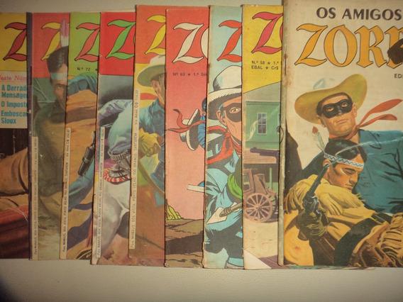 Lote Zorro Ebal Formatinhos 58 61 63 67 69 72 73 74 + Amigos