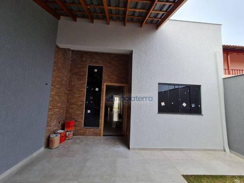 Casa Com 3 Dormitórios À Venda, 97 M² Por R$ 330.000,00 - Monte Belo - Londrina/pr - Ca2074