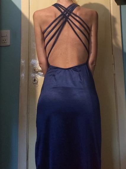 Vestido Largo De Fiesta Color Azul.