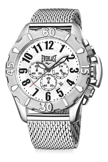 Relógio Masculino Everlast E25515 48mm Aço Prata