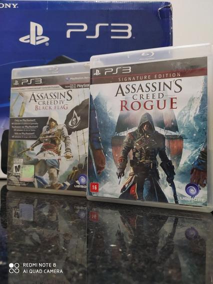 Assassins Creed Iv E Rouge Playstation 3 Mídia Física Ps3