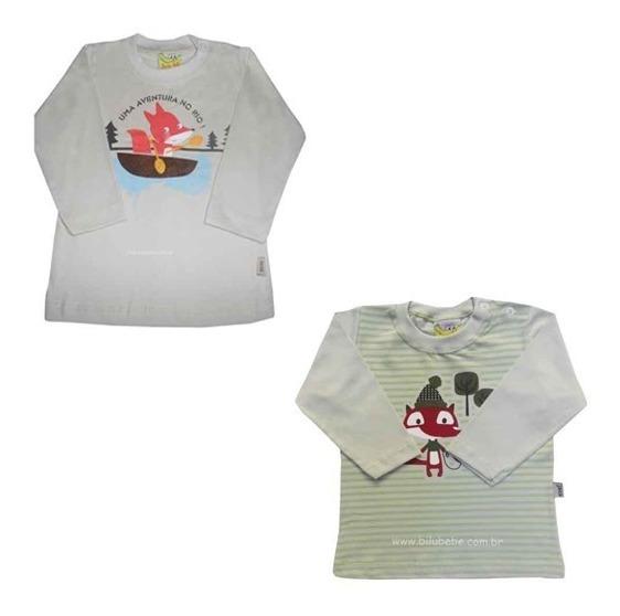 02.266/270 - Duas Camisetas De Manga Longa Bebê Menino