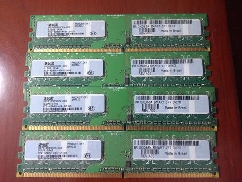 Imagem 1 de 3 de Memória Ram 2gb 4x512 Pc2-4200 Dell Optiplex G X - 620