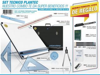 Tablero Plantec 50x60 + Atril + Escuadras + Reglas + Muc Más