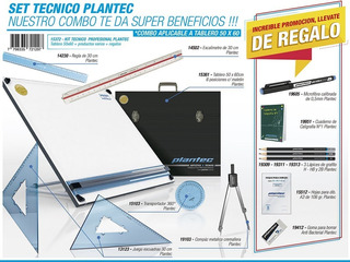 Tablero Plantec Atril + Escuadras + Reglas + Muchas Cosas