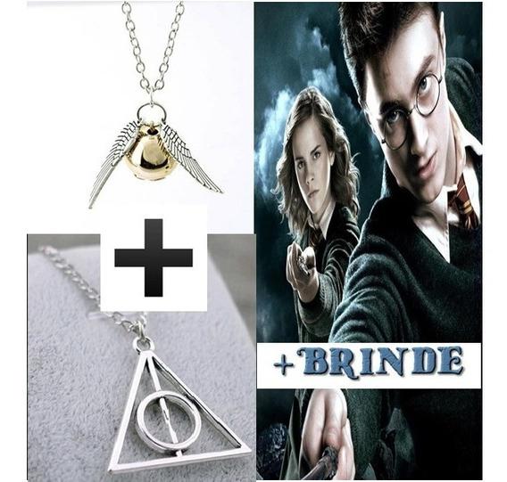 Kit Harry Potter Reliquias Da Morte + Pomo De Ouro+2 Brindes