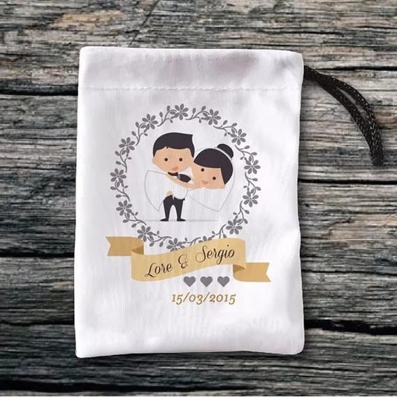 50 Bolsitas Souvenirs Para Arroz Civil, Casamiento, Boda