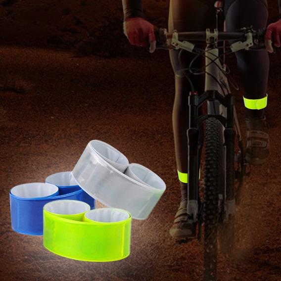 Fita Faixa Refletiva Segurança P/ Bike Caminhada Bate Enrola