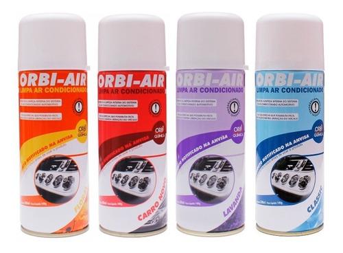 Imagem 1 de 1 de Kit 12 Unidades - Spray Limpa Ar Condicionado Orbi-air