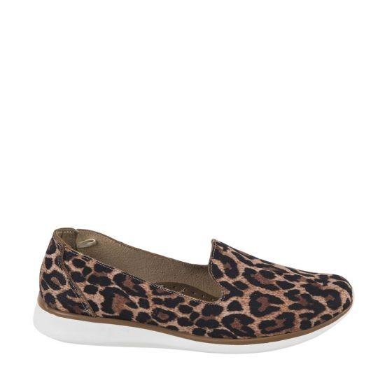 Zapato Confort Shosh 4552 Cof 825103 Leopardo Sintetico