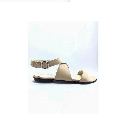 Zapato Mujer Sandalia Chata Natacha Cuero Nude #2554