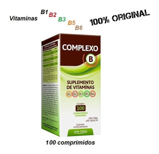 Polivitaminico Vitaminas Complexo B 100% Idr 100 Comprimidos