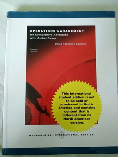 Operations Management For Competitive Advantage. Chase, Jaco