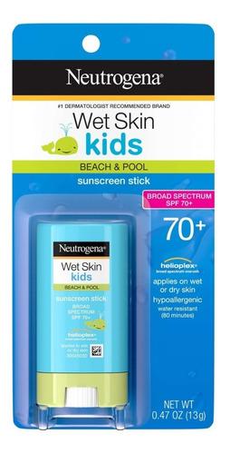 Protetor Solar Em Bastão Neutrogena Wet Skin Kids, Fps 70+