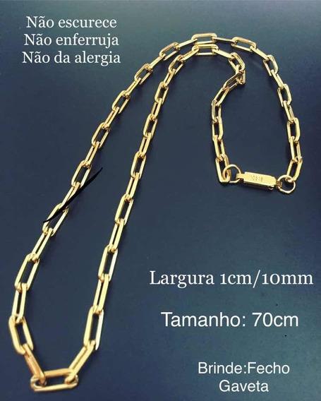 Cordão Com Pulseira Modelo Cartier Idênticos Ao Ouro 18k