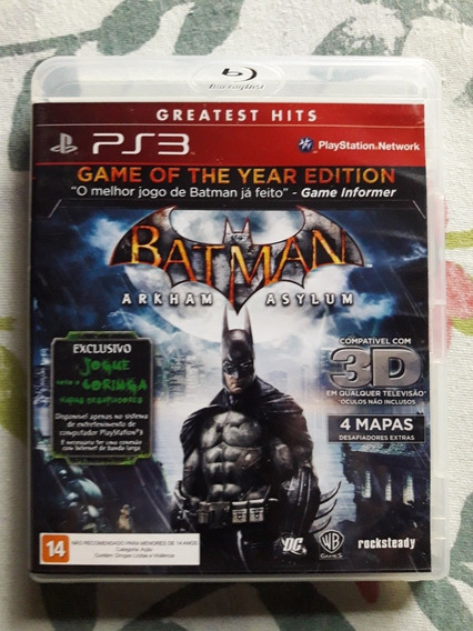 Batman Arkham Asylum Game Of The Year Edition Playstation 3