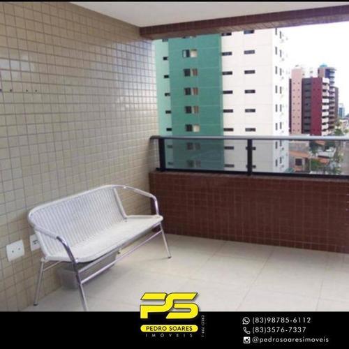 Apartamento Com 5 Dormitórios À Venda, 210 M² Por R$ 950.000 - Manaíra - João Pessoa/pb - Ap3661