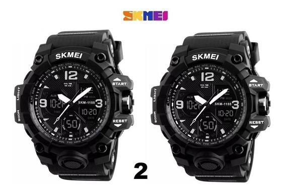 Kit 2x Relógios Masculino Skmei 1155b - Digital Analogico
