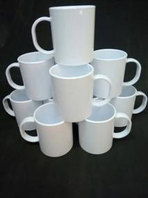 Caneca De Polímero Branca 325 Ml Sublimação 12 Unidades