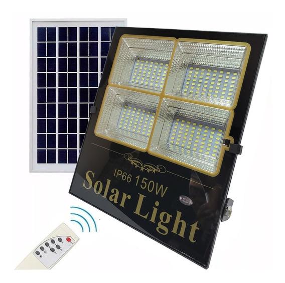 Refletor Led Holofote 150w Painel Placa Solar Completo Ip66