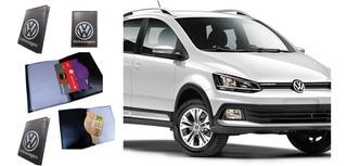 Carteiras Masculino Feminino Porta Documento Carro Rg Cnh Cedula Cartão Volkswagen Couro