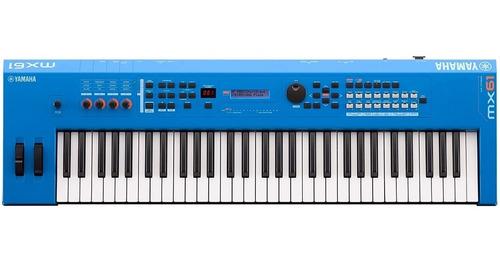 Sintetizador Controlador Yamaha Mx61 Mx61bu Azul Blue Cuotas