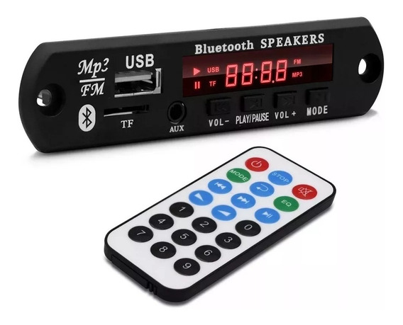 12 Volts Decodificador Decoder Mp3 Usb Caixa Ativa Bluetooth