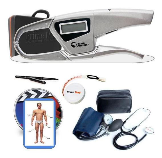 Adipômetro Digital Científico Dgi Prime Med + Esfigmo
