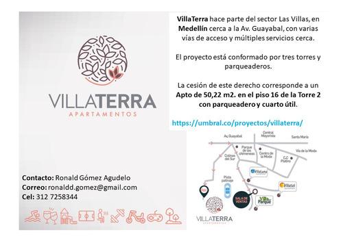Imagen 1 de 9 de Venta Cesión Derecho Villaterra Apartamento 50 M2