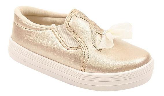 Tênis Infantil Menina Slip On Casual Bailarina Conforto Leve
