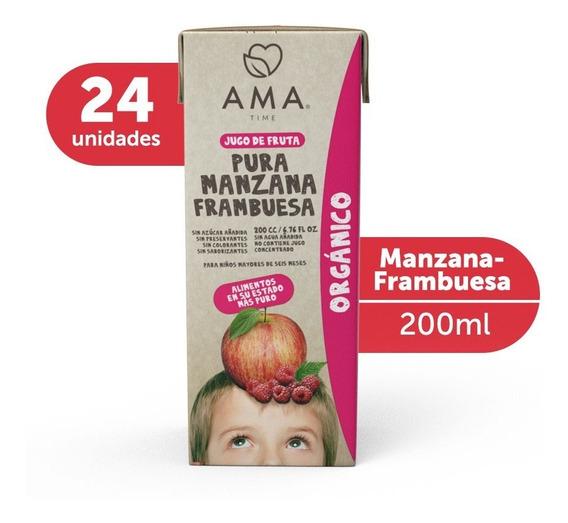 Ama Jugo Manzana Frambuesa Orgánico 24x200cc
