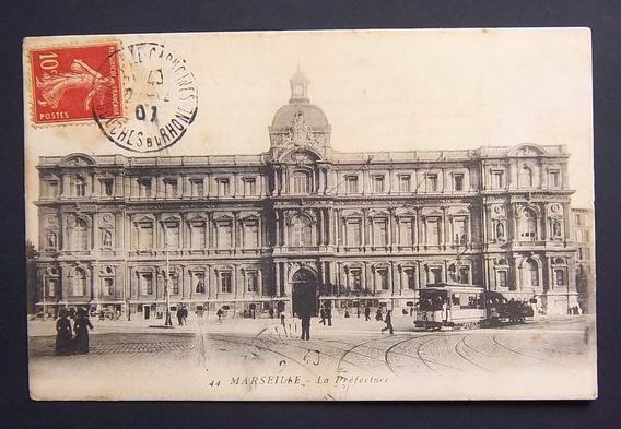 Postal Francia Marsella La Prefectura Usada Mb 1907