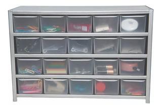 3 Pza Organizador De Metal Para Cosas Pequeñas C/20 Gavetas