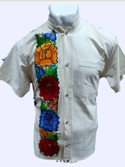 Camisa Bordada Artesanalmente Para Caballero.