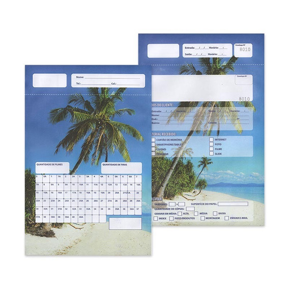Envelope P/ Fotoacabamento Serviços Digitais - 100 Folhas