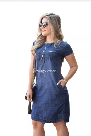 Vestido Feminino Jeans... Vista-se Com Estilo. (ref 1052)