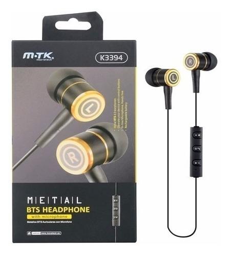 Auricular Mtk Bluetooth K3394 Metal Bts Headphone Original