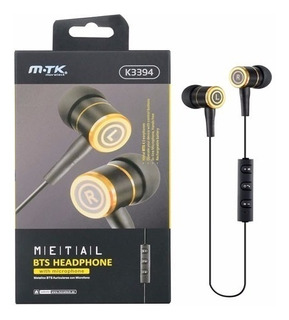 Auricular Mtk Bluetooth K3394 Metal Bts Headphone Original