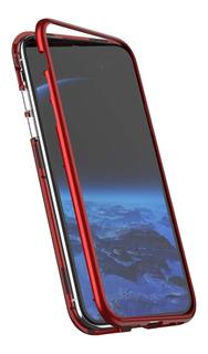 Funda Magnetica Plastica + Vidrio Templad Samsung S8 S9 Plus