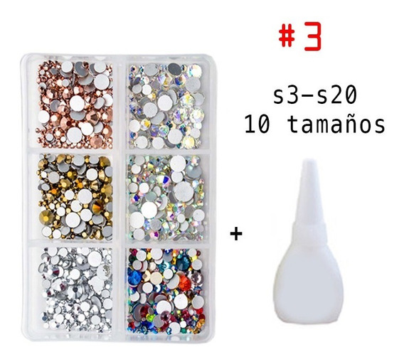 Cristal Tipo Swarovski 1700 Pzas Piedra Tamaño S3-s20 Uñas