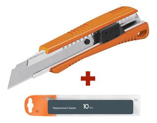 Cortador Extra Filo Precisión Reforzado Multiuso + 10 Blades