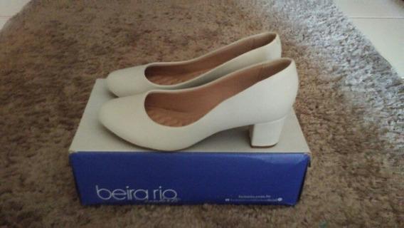 Sapato Branco Confort Beira Rio Número 36