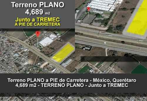 Venta De Terreno Comercial 4,689m2 Pie De Carretera, Querétaro, Escobedo, México