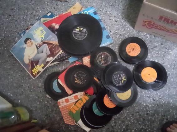 Lote - 2 Bandejas 20 Discos Lp 10 Pasta 100 Simples Vinilo