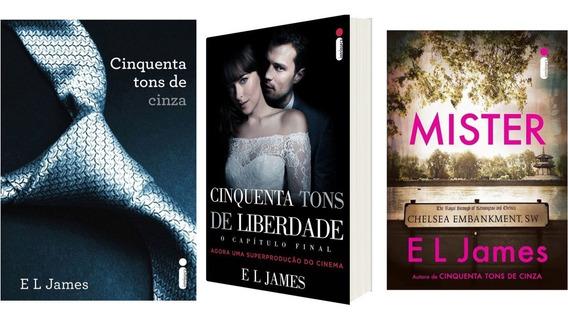 Kit Livros 50 Tons De Cinza + 50 Tons De Liberdade + 1 Livro