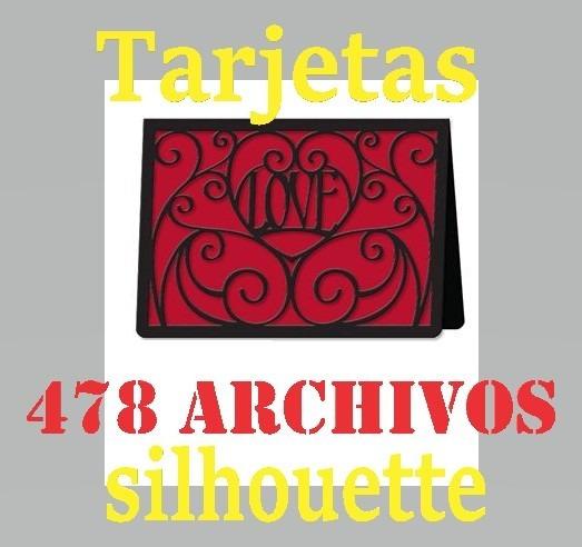 Tarjetas - Archivo De Corte Silouette - Kit 478 Deseño