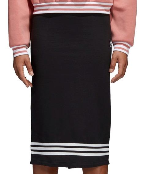 Falda Originals 3 Franjas Skirt Mujer adidas Cd6913